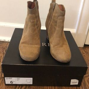 """J crew suede ankle boot """"nut"""" color 6.5"""